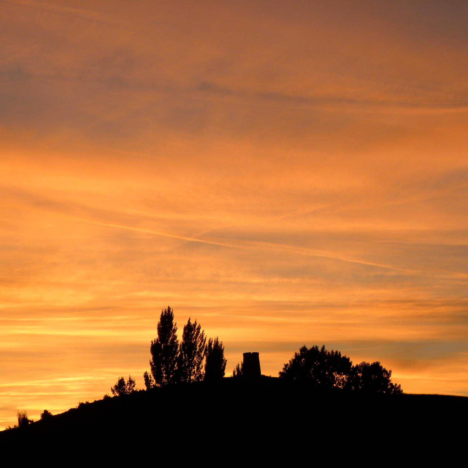 Spirituele vakantie Frankrijk, prachtige avond gloed