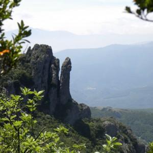 De penis van Mount Bugarach Frankrijk